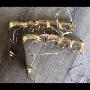 ALDO Gladiator Sandals in Gold